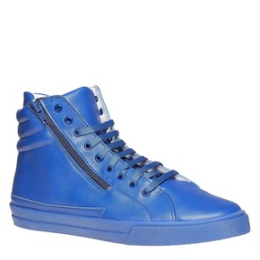 Sneakers da uomo in pelle con cerniere north-star, blu, 841-9503 - 13