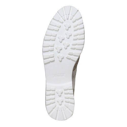 Scarpe basse di pelle con decorazione Brogue bata, grigio, 524-2129 - 26