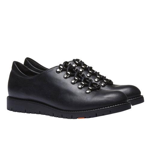 Scarpe in pelle con lacci originali flexible, nero, 524-6438 - 26