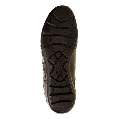 Sneakers informali di pelle levis, marrone, 844-4544 - 26