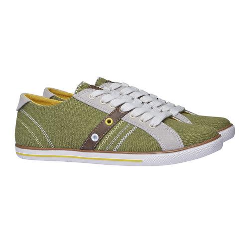 Sneakers informali da uomo bata, verde, 849-7663 - 26