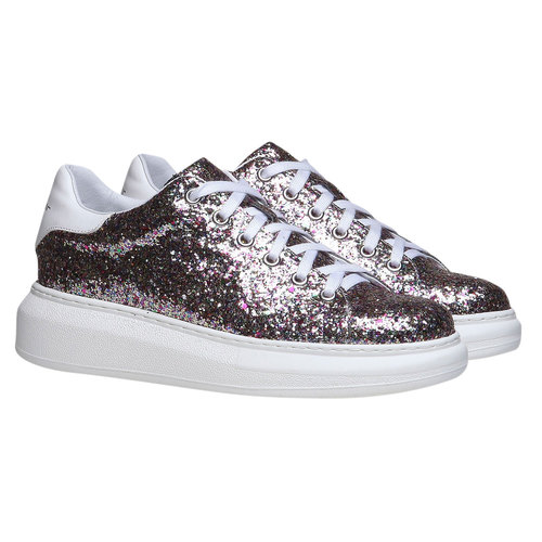 Sneakers da donna con glitter north-star, 541-0223 - 26