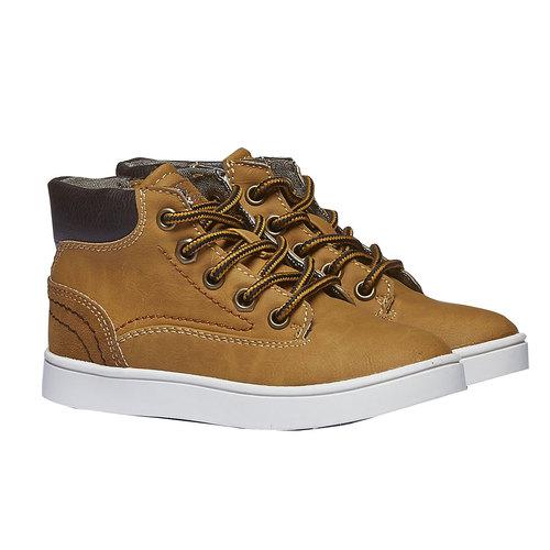 Sneakers da bambino alla caviglia mini-b, giallo, 211-8124 - 26