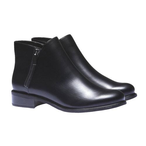 Scarpe da donna alla caviglia bata, nero, 591-6199 - 26