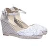 Sandali estivi con zeppa bata, bianco, 759-1117 - 26