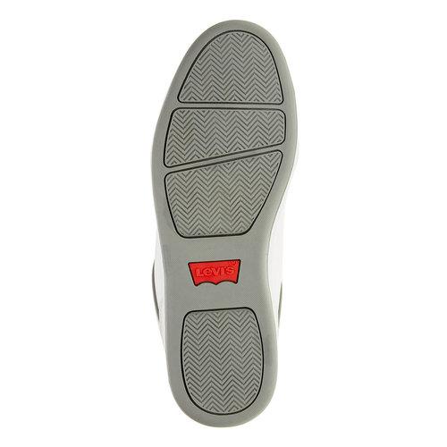 Sneakers da uomo con lacci in denim levis, bianco, 841-1551 - 26