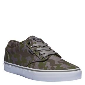 Sneakers con stampa mimetica vans, verde, 889-7194 - 13