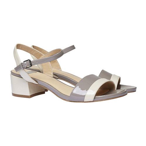 Sandali da donna bata, grigio, 661-2112 - 26