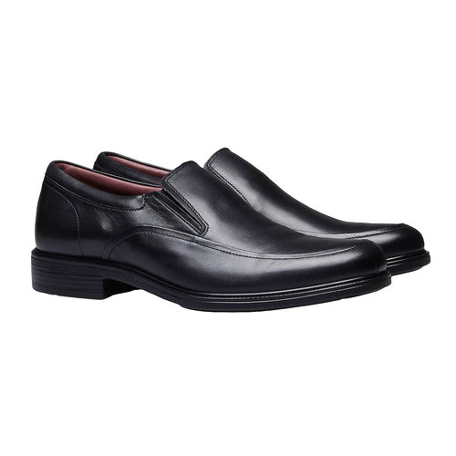 Scarpe basse comode di cuoio bata-comfit, nero, 814-6934 - 26