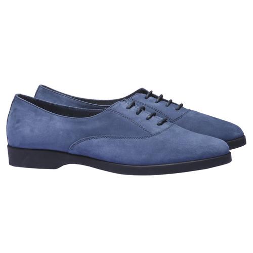 Scarpe basse di pelle flexible, blu, 526-9156 - 26
