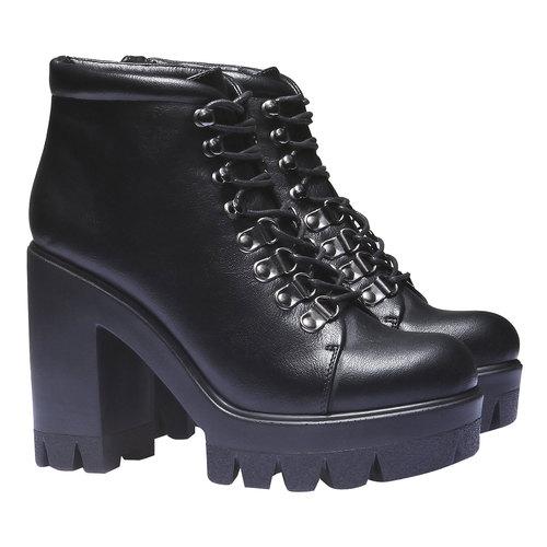 Scarpe alla caviglia con suola massiccia bata, nero, 791-6486 - 26