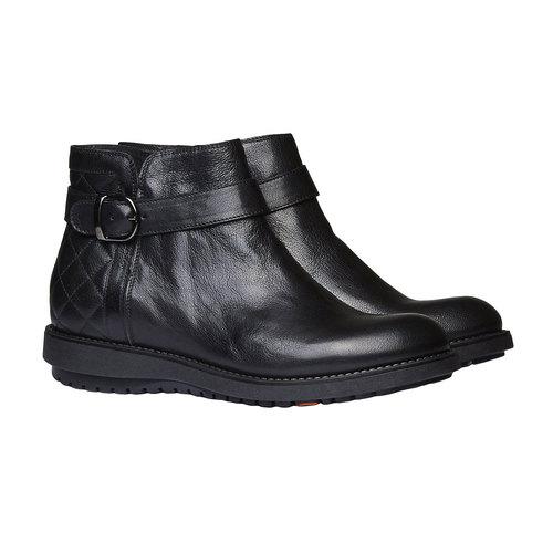 Scarpe alla caviglia con cuciture flexible, nero, 594-6229 - 26