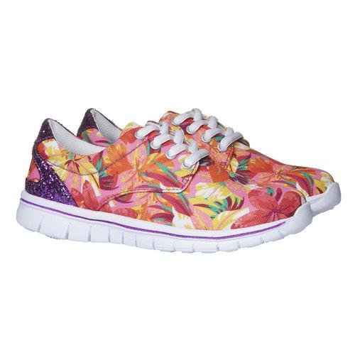 Sneakers con motivo floreale mini-b, rosa, 329-0200 - 26