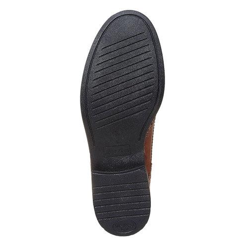 Scarpe basse da donna in pelle con suola ampia bata, marrone, 524-3356 - 26