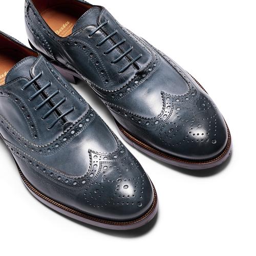 Oxford di pelle bata-the-shoemaker, blu, 824-9594 - 26