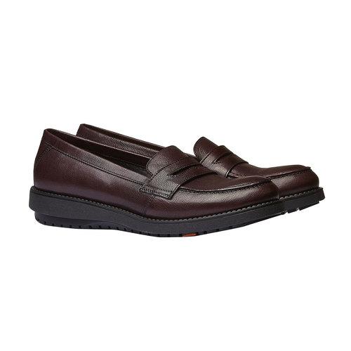 Scarpe di pelle in stile Loafer flexible, rosso, 514-5185 - 26