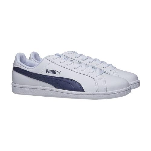 Sneakers bianche di pelle puma, bianco, 804-1151 - 26