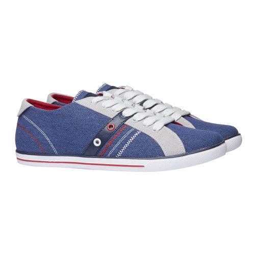 Sneakers da uomo con tomaia in denim bata, viola, 849-9663 - 26