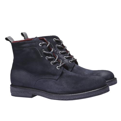 Scarpe di pelle alla caviglia bata, blu, 893-9204 - 26