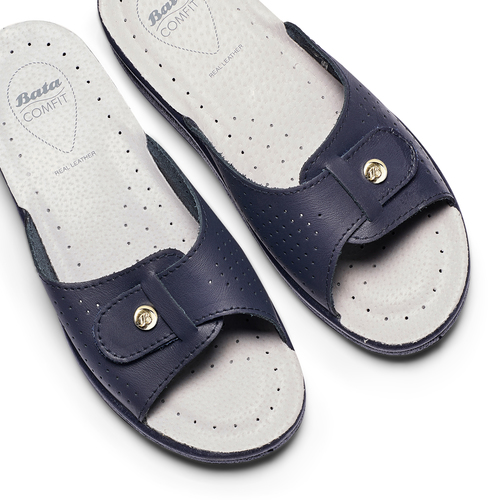 Slip-on da donna in pelle bata-comfit, blu, 574-9250 - 26