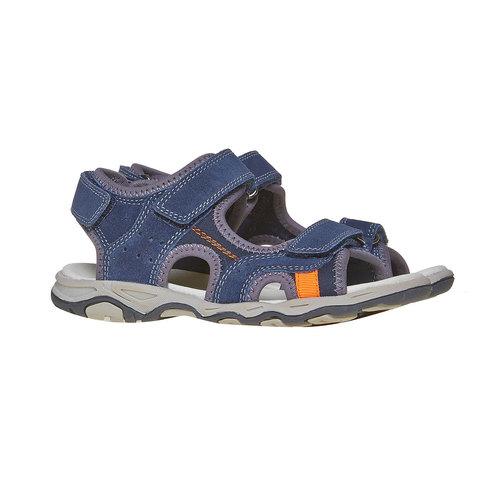 Sandali sportivi da bambino con chiusura a velcro mini-b, blu, 463-9107 - 26