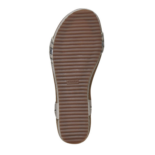 Sandali da donna con flatform bata, grigio, 561-2404 - 26