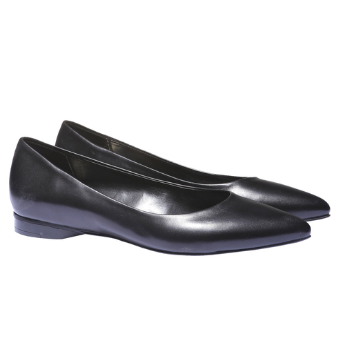Ballerine di pelle bata, nero, 524-6207 - 26