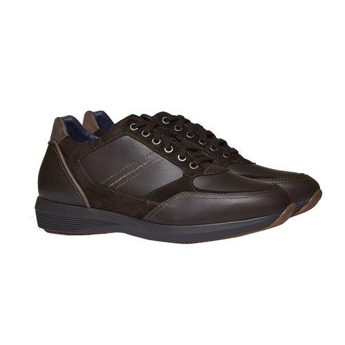 Sneakers scamosciate bata, marrone, 844-4519 - 26