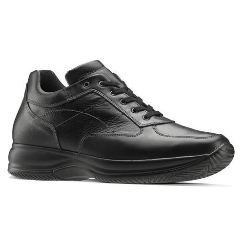 Sneakers di pelle bata, nero, 844-6325 - 13