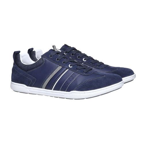 Sneakers informali da uomo bata, viola, 841-9633 - 26