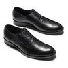 Scarpe basse di pelle in stile Derby bata, nero, 824-6874 - 26