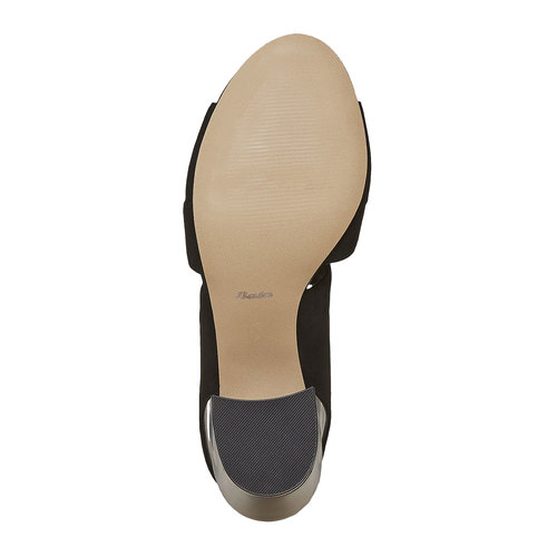 sandalo da donna con tacco bata, nero, 769-6536 - 26