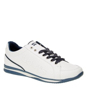 Sneakers da uomo in pelle levis, bianco, 844-1509 - 13
