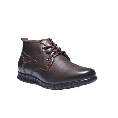 Sneakers in pelle informali bata, marrone, 894-4191 - 13