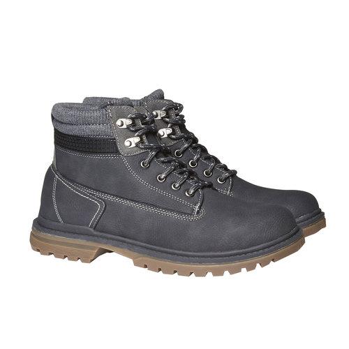 Scarpe alla caviglia con suola appariscente bata, grigio, 891-2438 - 26