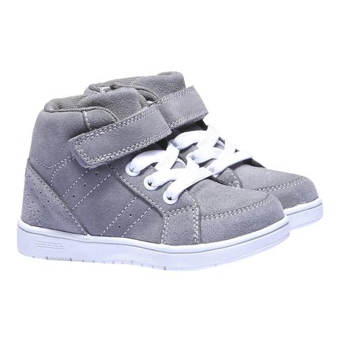 Sneakers da bambino in pelle mini-b, grigio, 213-2134 - 26