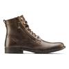 Scarpe di pelle alla caviglia bata, marrone, 894-4449 - 26
