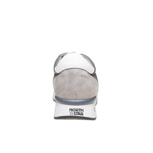 Sneakers eleganti da uomo north-star, grigio, 849-2501 - 17