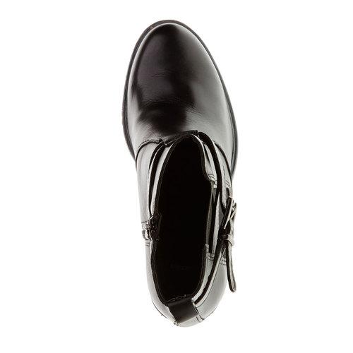Scarpe in pelle alla caviglia bata, nero, 794-6167 - 19