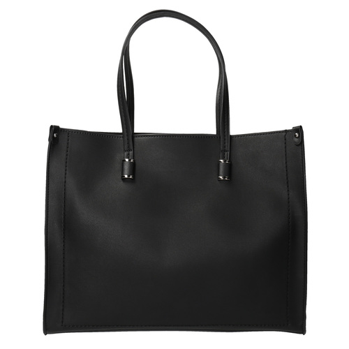 Borsetta quadrata in stile Shopper bata, nero, 961-6736 - 19
