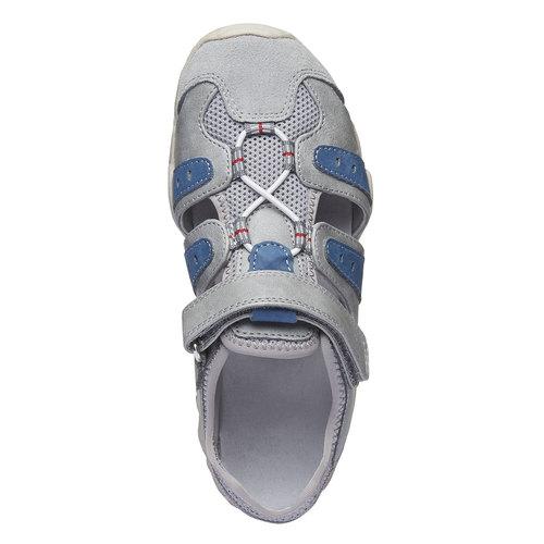 Sandali da bambino con punta chiusa mini-b, grigio, 361-2173 - 19