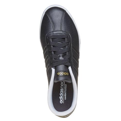 Sneakers da donna con effetto pelle di coccodrillo adidas, nero, 501-6198 - 19