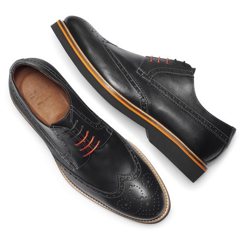 Scarpe basse di pelle con suola appariscente bata-the-shoemaker, nero, 824-6190 - 19