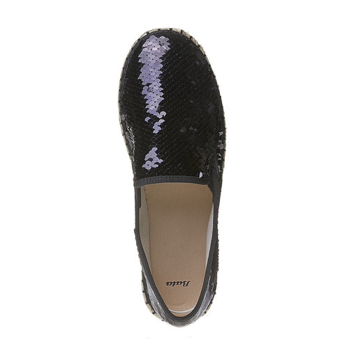 Slip-on da donna con paillettes bata, nero, 559-6102 - 19