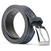 Cintura di pelle con cuciture bata, blu, 953-9112 - 26