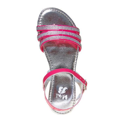 Sandali da ragazza con strass mini-b, rosa, 361-5175 - 19