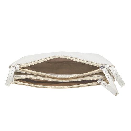 borsa in pelle da donna bata, bianco, 964-8174 - 15