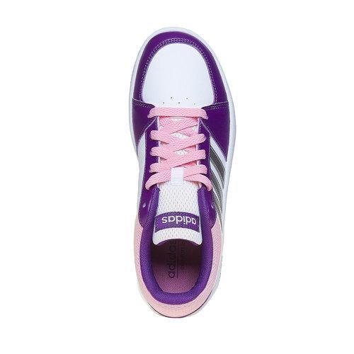 Sneakers eleganti da bambina adidas, bianco, viola, 401-1232 - 19