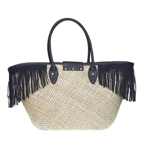 Borsetta Shopper con frange bata, nero, 969-6449 - 26