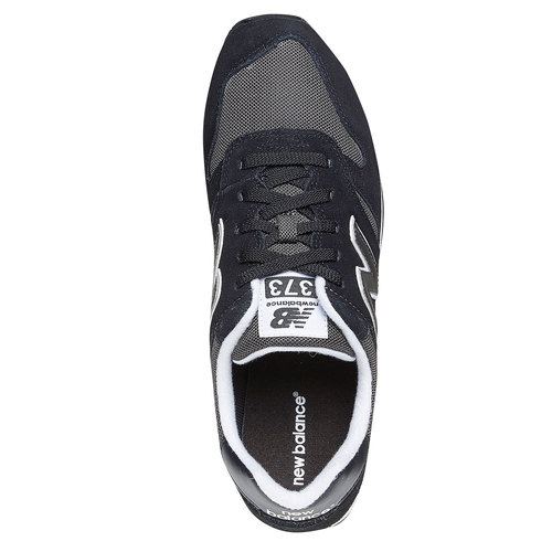 Sneakers da uomo in pelle new-balance, nero, 803-6371 - 19